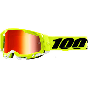 100% Racecraft Anti-Fog Goggles Gen2, yellow/mirror